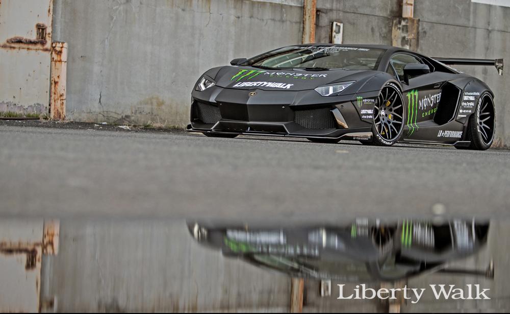 Liberty Walk presented three modified Lamborghini Aventadors