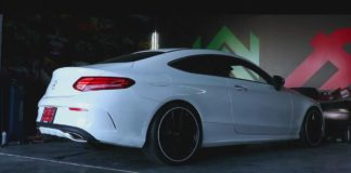 Mercedes C250 Coupe with an Armytrix exhaust