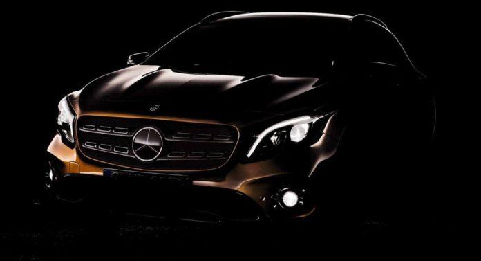 Mercedes teases the GLA Facelift
