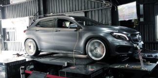 Modified Mercedes GLA 45 AMG producing 536 hp at the wheels