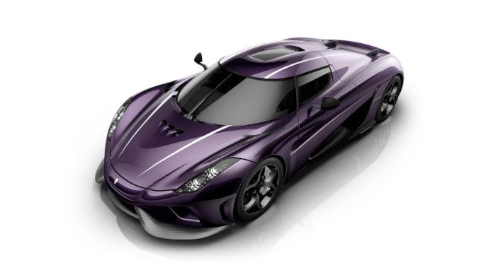 Purple Koenigsegg Regera, paying tribute to Prince