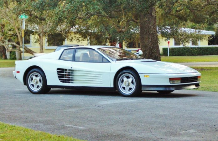 The Ferrari Testarossa from Miami Vice is heading to auction again