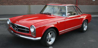 A 1965 Mercedes-Benz 230SL with a Corvette engine is up for sale