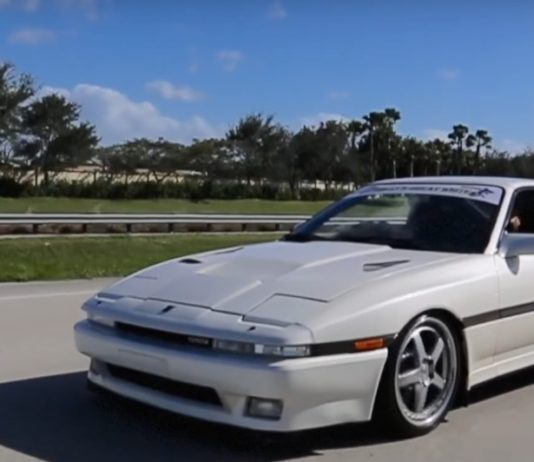 A modified Toyota Supra MK3 that produces 1,600 hp