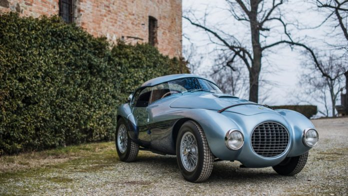A one-off 1950 Ferrari 166 MM212 Export Uovo by Fontana is heading to auction