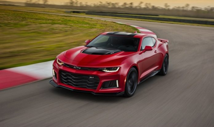 Chevrolet announced that the Camaro ZL1 has a top speed of 198 mph
