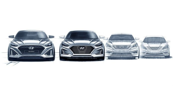 Hyundai released sketches of the 2018 Sonata