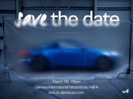 The Alpine A120 will be presented on 7 March
