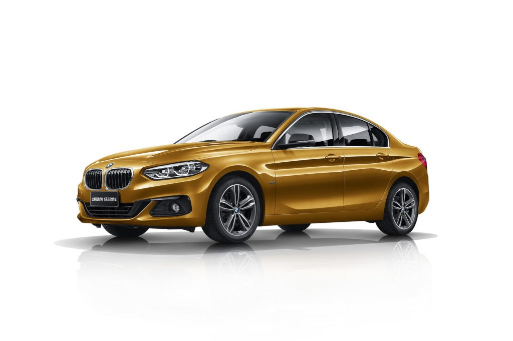 The BMW 1-Series Sedan was launched today in China