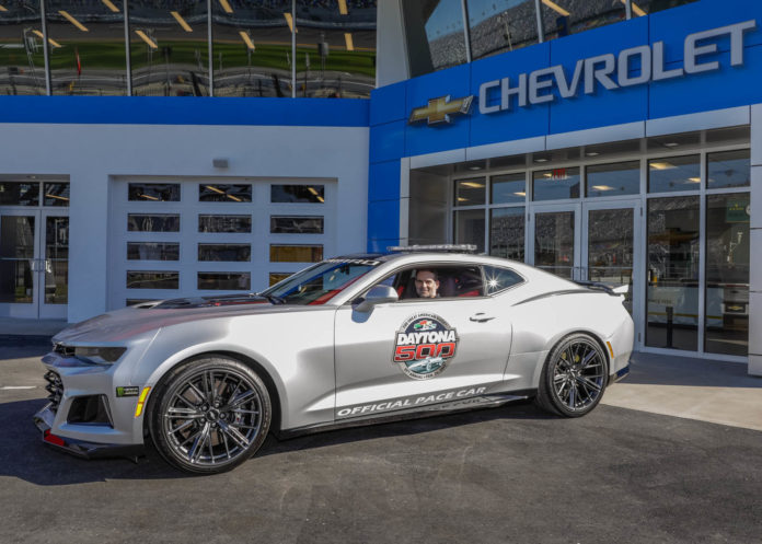 The Chevrolet Camaro ZL1 is the new pace car of the Daytona 500