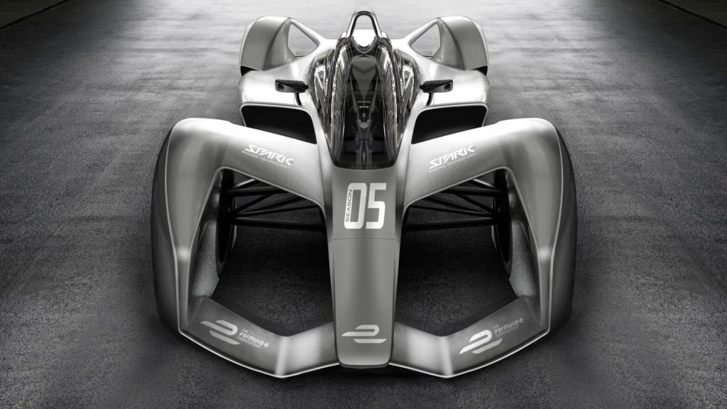 The new design of the cars of Formula E
