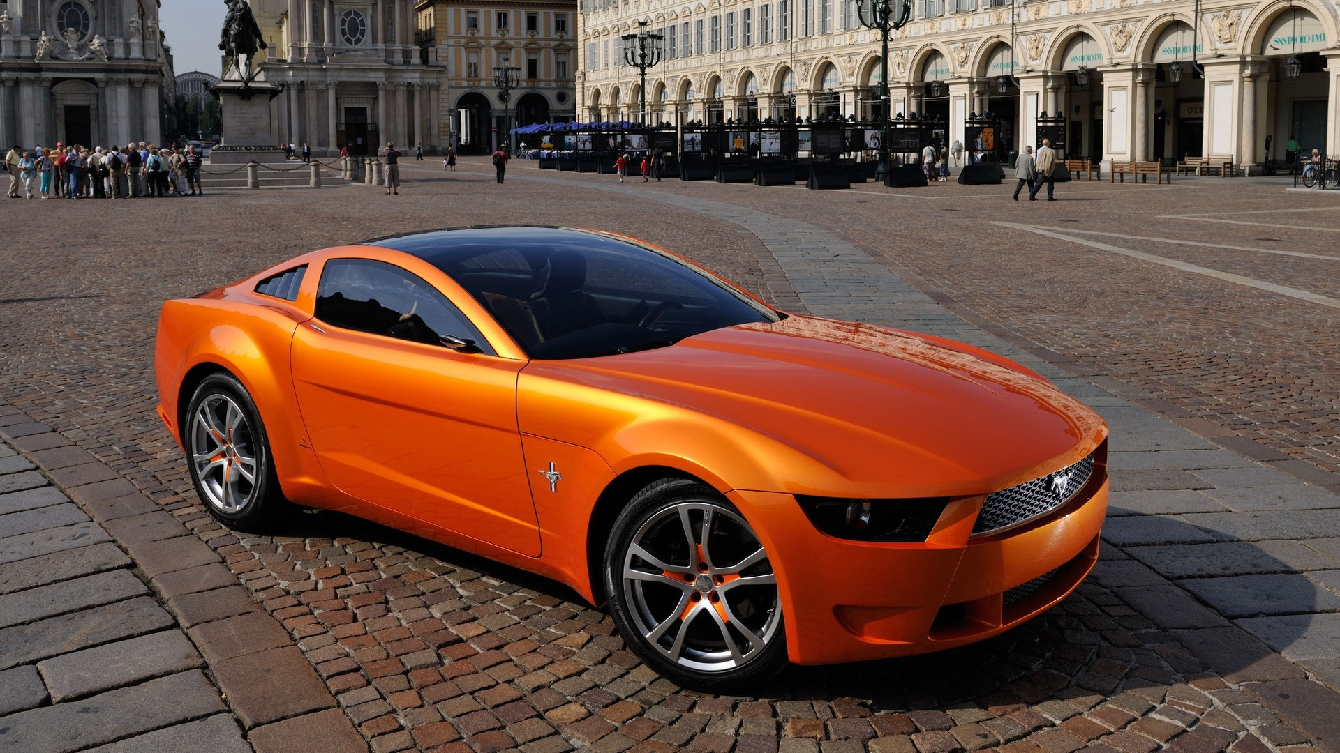 old concept cars ford mustang giugiaro. Black Bedroom Furniture Sets. Home Design Ideas