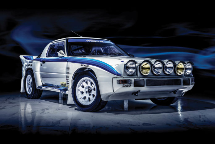 A beautiful 1985 Mazda RX-7 Evo Group B is heading to auction