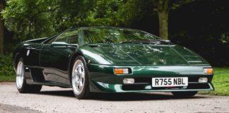 A gorgeous 1997 Lamborghini Diablo SV is heading to auction