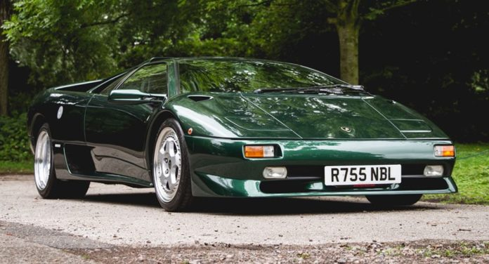 A gorgeous 1997 Lamborghini Diablo SV is heading to auction