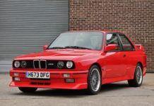 A red BMW M3 E30 is heading to auction