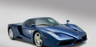 A unique blue Ferrari Enzo is heading to auction
