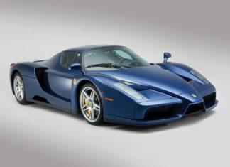 A unique blue Ferrari Enzo is heading to auction