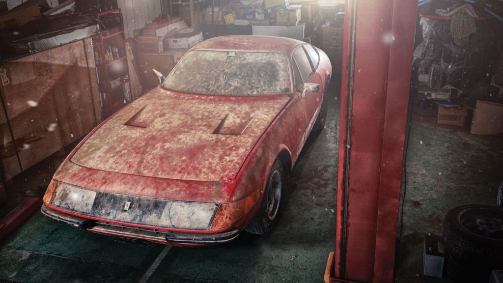 An exremely rare Ferrari 365 GTB4 Daytona Berlinetta Alloy by Scaglietti is heading to acution