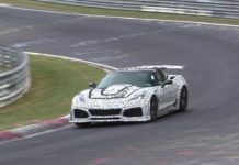 Chevrolet is testing the new Corvette ZR1 at Nurburgring