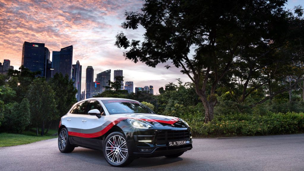 Porsche Macan Turbo with a special Livery from Porsche Asia Pacific
