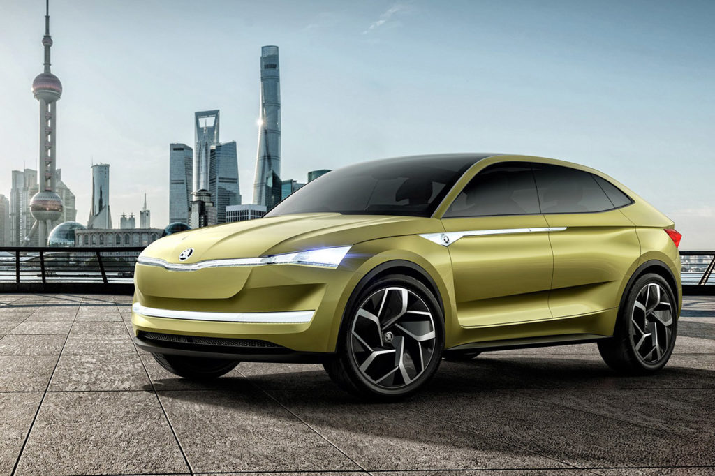 Skoda is planning to release an electric coupe SUV and a new hatchback until 2020