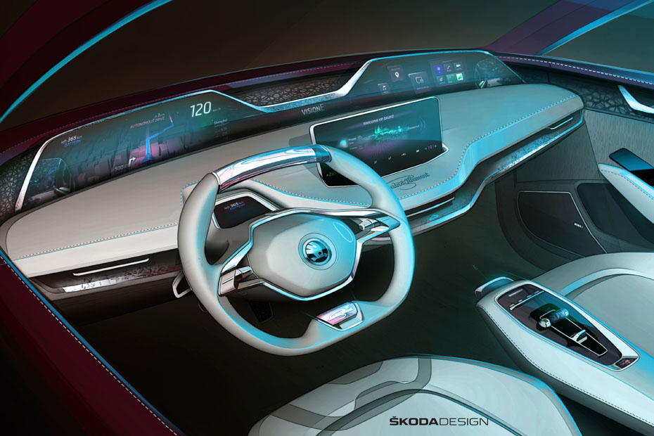 Skoda presents the renewed Vision E Concept