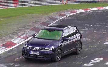 Volkswagen Tiguan R testing at Nurburgring