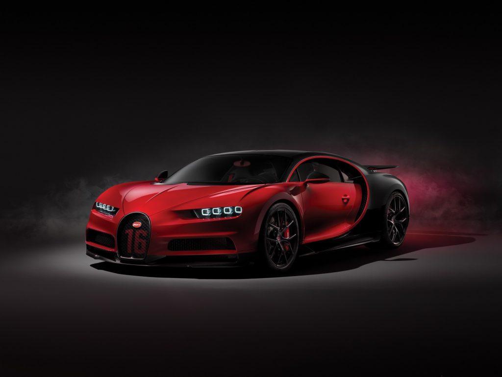 Bugatti Chiron Sport X on Rolls Royce Car Logo