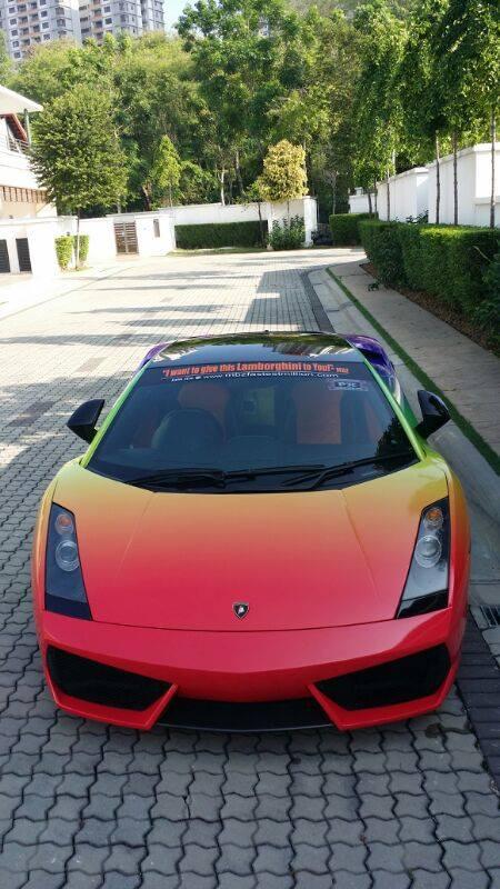 Lamborghini Huracan Performante >> A rainbow colored Lamborghini Gallardo