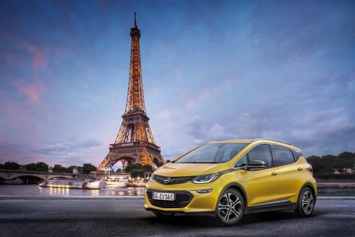 2016 Paris auto show Opel Ampera-e